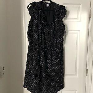 Old navy NWT black and white polka dot dress 2x